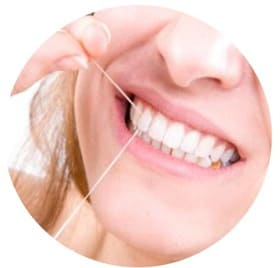 Застревает зубная нить